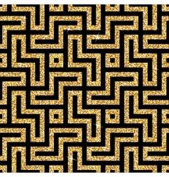 Golden oriental swastika pattern vector