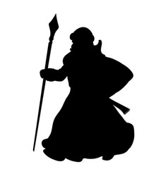 Grandfather frost silhouette new year vector
