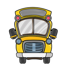 grated school bus transportation to education vector image