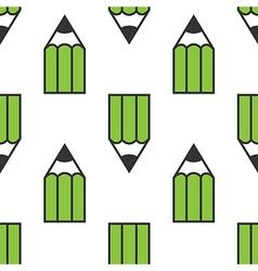 Green pencils seamless pattern vector