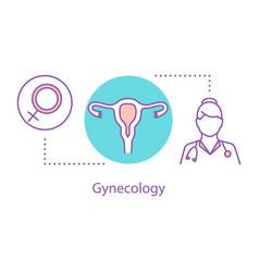 Gynecology concept icon vector