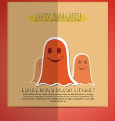 Halloween and ghost vector