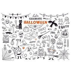 Halloween Set of Design Elements vector image vector image