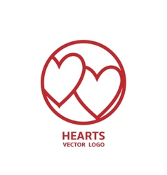 Hearts Logo vector image vector image
