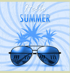 hello summer summer background banner vector image