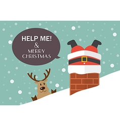 Help me and Merry Christmas vector image
