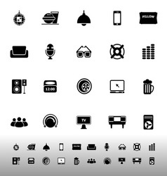 Home theater icons on white background vector image