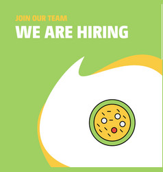 Join our team busienss company bacteria on plate vector