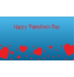 Landscape of valentine on blue backgrounds vector image