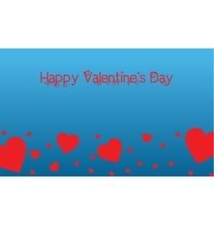 Landscape of valentine on blue backgrounds vector