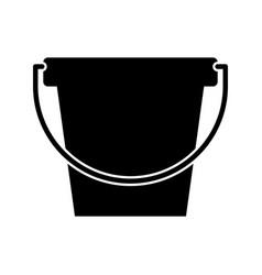 Laundry bucket isolated icon vector