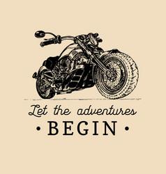 Let the adventures begin inspirational poster vector