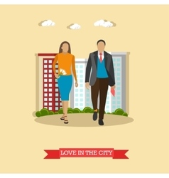 Love in the city concept in vector image