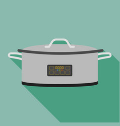 metal cooker icon flat style vector image