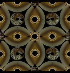 modern gold textured 3d greek seamless pattern vector image