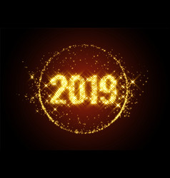 New year 2019 sparkles background vector