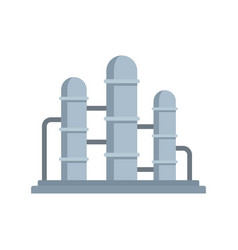 Oil refinery reserve icon flat style vector