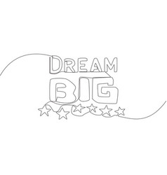 one single line drawing motivational and vector image