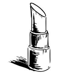 Open lipstick vector image
