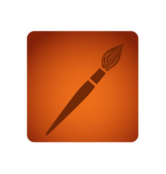 orange square frame brush tool art vector image