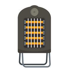 Portable heater icon flat style vector