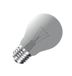 Realistic Light Bulb isolated on white vector image