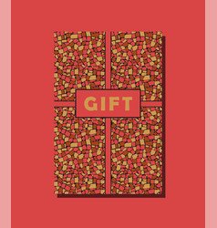 Red yellow and brown vintage gift card design vector