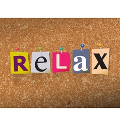 Relax Concept vector