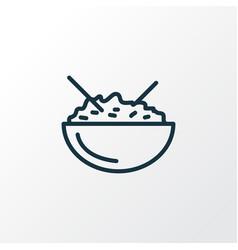 rice bowl icon line symbol premium quality vector image