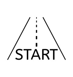 Road and start vector