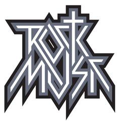 rock music - logo emblem label vector image