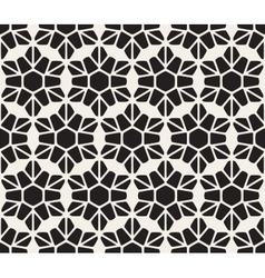 Seamless Black and White Rounded Lace Petal vector image