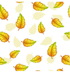 seamless pattern with falling yellow leaves vector image