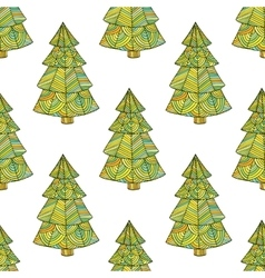 Seamless pattern with the image of a Christmas vector image