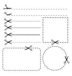 Set coupon borders vector