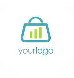 Shopping bag business logo vector