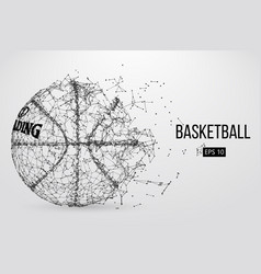 Silhouette of a basketball ball vector
