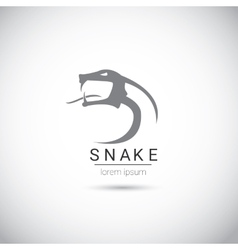 snake simple black logo design element vector image