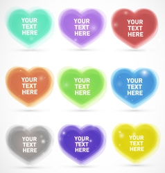 Sparkling Colorful Editable Hearts vector image