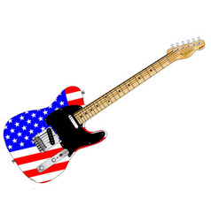Stars and stripes guitar vector