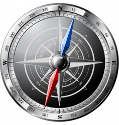 Steel compass vector