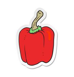 Sticker of a cartoon red pepper vector