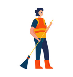 street cleaner icon vector image