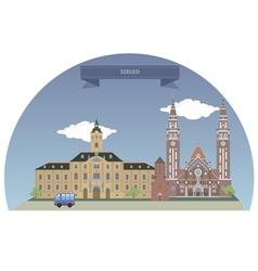 Szeged vector image