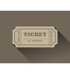 Ticket vector image