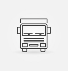 Truck outline icon vector