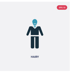two color hairy icon from people concept isolated vector image