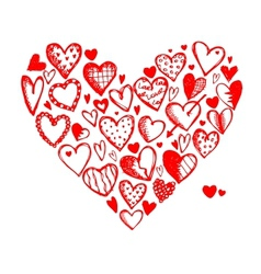 Valentine hearts for your design vector image