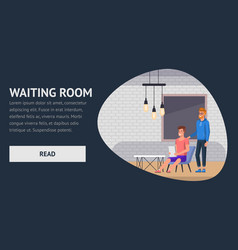 waiting room employment business interview flat vector image
