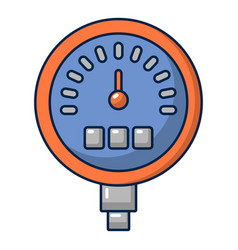 Water meter icon cartoon style vector